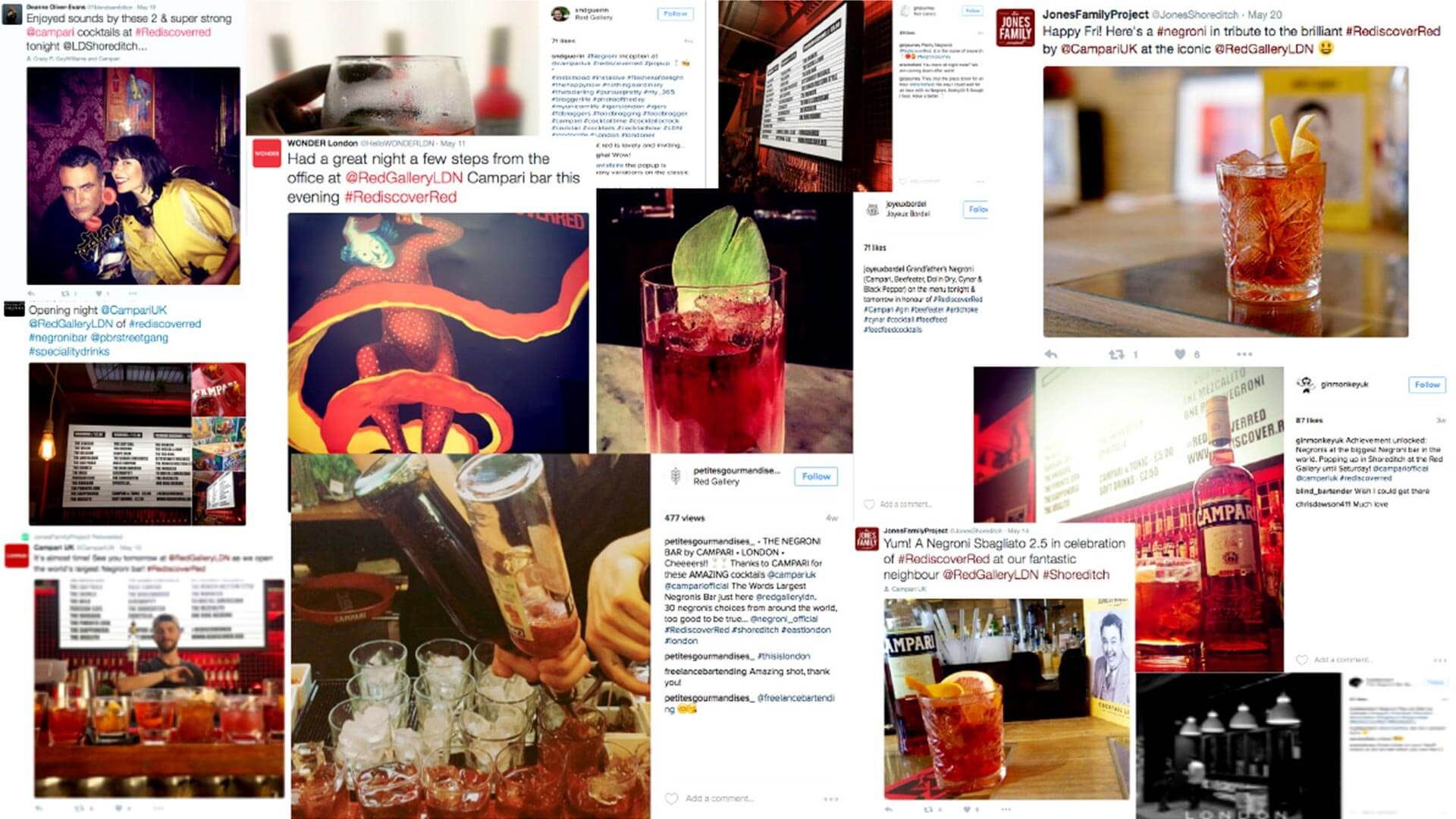 Campari pop up social media amplification