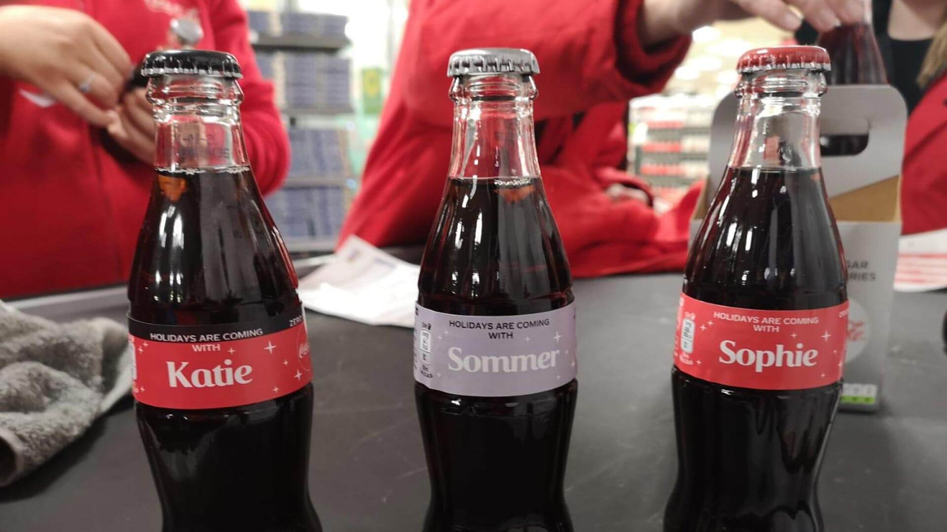 Personalised Coca-cola bottles