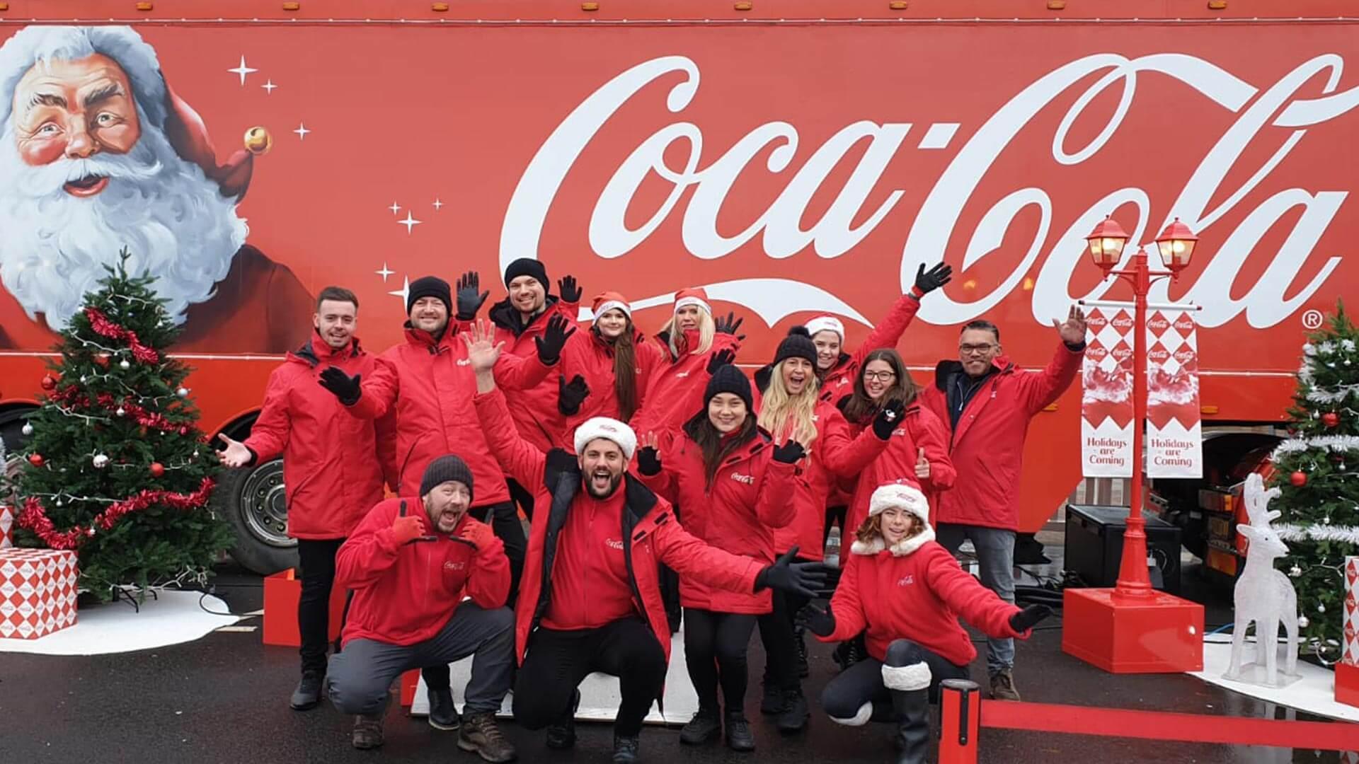 Christmas Coke Truck Brand Ambassadors