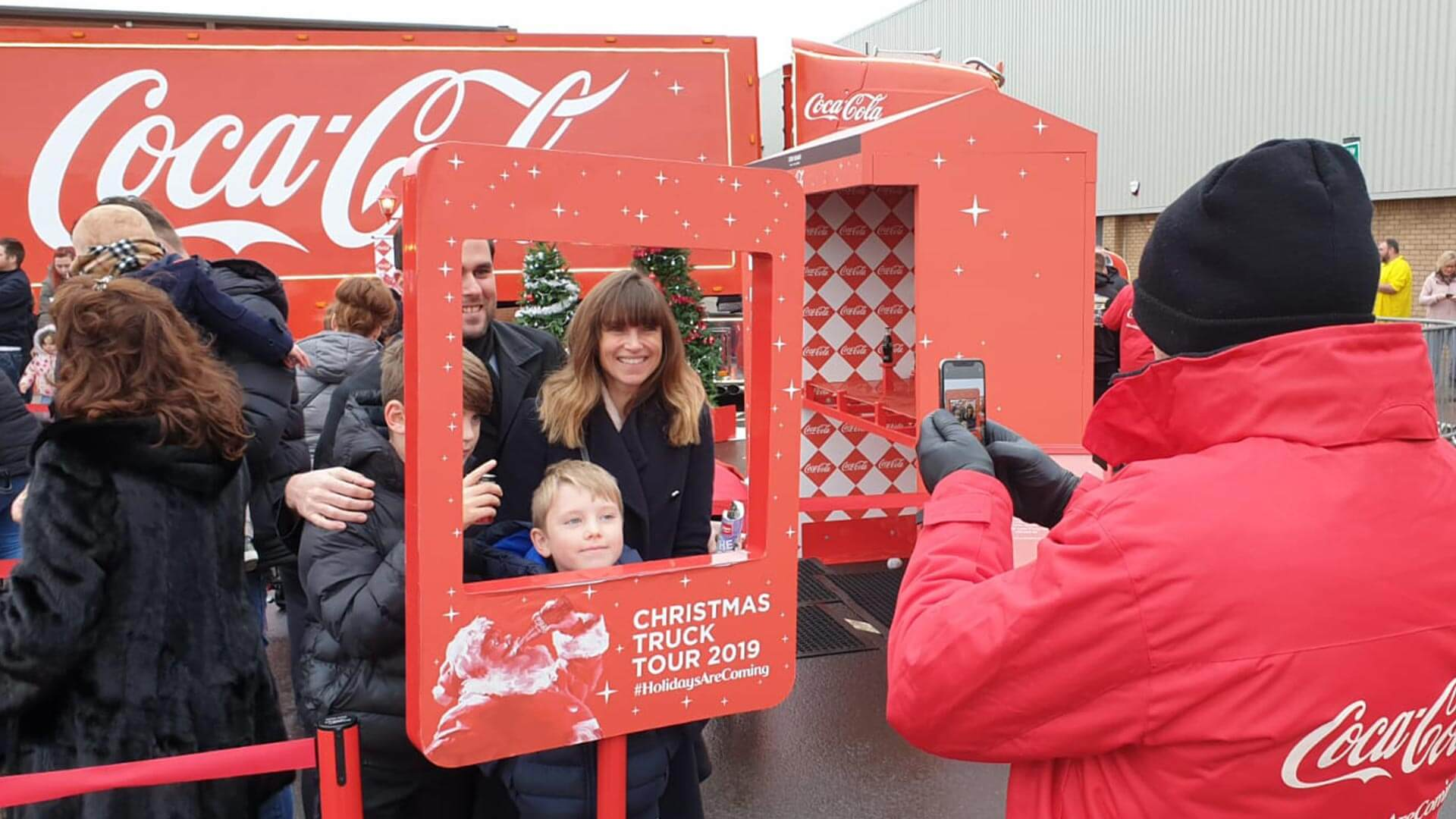 Coke Christmas truck digital amplification
