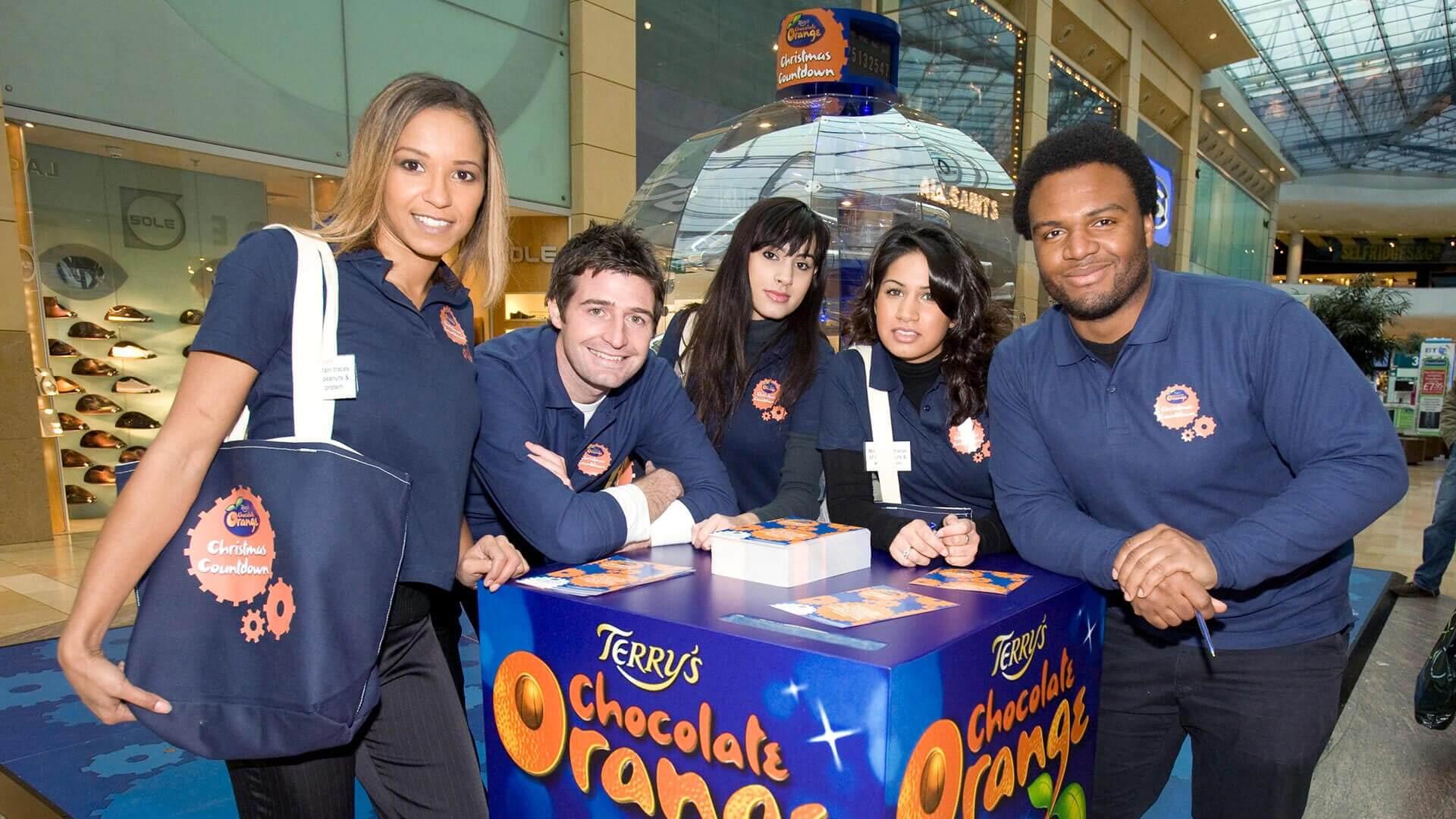 Terrys chocolate orange ambassadors