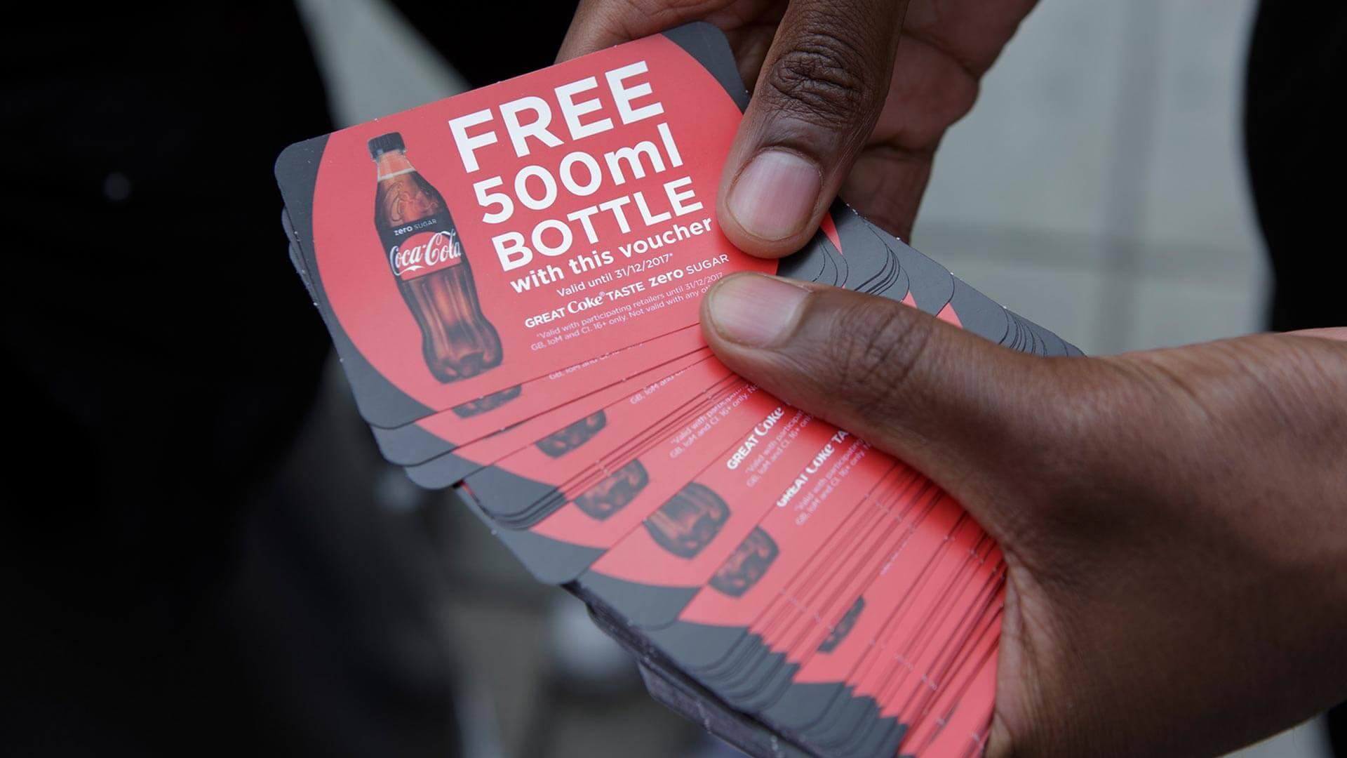 Coke Zero vouchers